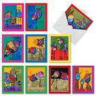M3319 Bohemian Birds 10 Assorted Blank Note Cards w Envelopes stationery