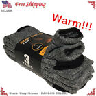 New 3 Pairs Mens Thermal Heavy Duty Winter Warm Crew Work BOOTS Socks Size 9 13