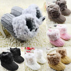Newborn Infant Baby Boy Girl Infant Warm Snow Boots Soft Sole Booties Prewalker