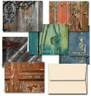 Rustic Thank You Note Cards 36 Thank You Cards 6 Designs Blank Cards