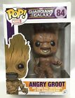 Funko Pop Exclusive Marvel Guardians Of The Galaxy Groot Angry Vinyl Figure New