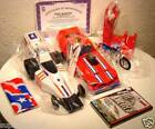 Evel Knievels Evil Knievel Motorcycle Jump Race Car FUNNY CAR EXTREME EVEL SET
