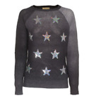 Wildfox Couture White Label Stargazer Clean Black Dip Dye Knit Party Sweater NWT