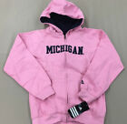 Michigan Wolverines Adidas PINK Full Zipper Jacket Hoodie Girls Youth XL 16