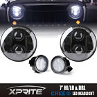 120w G1 LED Headlight with Halo Clear Turn Signal Combo For 07-18 Jeep Wrangler