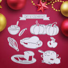 9pc Thanksgiving Day Cutting Dies Stencil Metal DIY Scrapbooking Embossed Frame