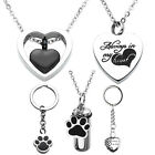 Openable Urns Cremation Heart Memorials Dog Pendant Necklace Ash Holder Keepsake