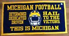 Michigan Wolverines NCAA Football Hail to the Victors Banner