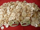VTG Lot OVER 8 Ounces MOP BUTTONS BUCKLES Collectible SEWING CRAFT BUTTONS