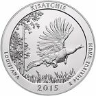 2015 KISATCHIE Louisiana ATB BULLION COIN 5 Oz SILVER AMERICA THE BEAUTIFUL