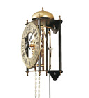 Regulator Wall Clock 7 Day Brass Movement Pendulum Roman Numerals Fleur de Lis