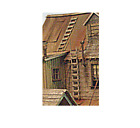 BAR MILLS O SCALE WOODEN LADDERS KIT ONE STORY (4) | BN | 4035