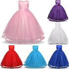 Flower Girl Wedding Bridesmaid Dress Kid Princess Party Pageant Formal Prom Gown