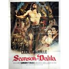 SAMSON AND DELILAH Movie Poster 47x63 in French R1970 Cecil B DeMile Vic