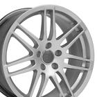 18x8 Rims Fit VW Audi A Series RS4 Style Hyper Silver Wheel ET35 5x112 SET
