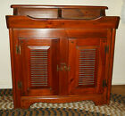 BEAUTIFUL MED FINISH VINTAGE 1960S PINE DRY SINK WITH REMOVABLE COPPER INSERT