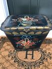 Antique Tole Ware Tin Fireplace Coal Scuttle Victorian Box