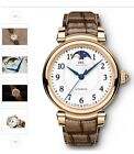IWC Da Vinci Automatic Moon Phase 36 18k Red Gold with Alligator Strap