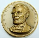 ABRAHAM LINCOLN 16TH PRESIDENT OF THE USA BRONZE MEDAL 1961 MEDALLIC ART CO