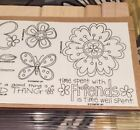 Stampin Up Time Well Spent 2008 2 Step Stamp Set Hostess Unmounted New Friends