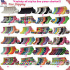 New Lot 6 12 Pairs Womens Assorted Styles Low Cut Ankle Socks Size 9 11 Girls