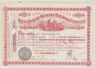 SAINT JOSEPH and WESTERN RAILROAD COMPANY 1880 Issued Cancelled Transferred