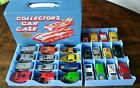 vintage hot wheels lot with carry case