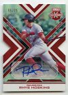 2016 RHYS HOSKINS ELITE EXTRA EDITION STATUS RED DIE CUT AUTO 55 75