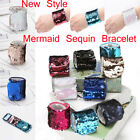 Charm Personalized Color Changing Cuff Bangle Wristband Mermaid Sequin Bracele