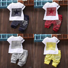Baby Boy Girls Kid Newborn Cotton T shirt Tops+Pants Outfit Clothes Set US Stock