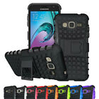 Shockproof Dual Layer Gel Stand Defender Hard Back Case Cover For Samsung Galaxy