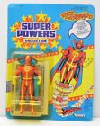 RED TORNADO Super Powers Action Figure 1985 Kenner UNPUNCHED 23 Back NIP