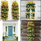 Christmas Artificial Sunflower Garland Silk Flower Home wall Floral Decor 2 Pcs