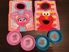 Sesame Street lot Pullover Bibs Abby Cadabby Elmo Terry Cloth Bowl Toddler girl