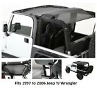 Jeep Cloak Extended Black Mesh Top for 97 06 Jeep TJ Wrangler