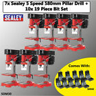 Sealey SDM30 Pillar Drill 5 speed 580mm 350w/230v + 19pc HSS Drill Bit Set Whole