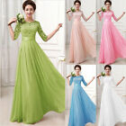 USA Women Formal Wedding Bridesmaid Long Evening Party Prom Gown Cocktail Dress