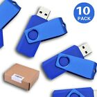 10PCS LOT 16GB Blue Swivel USB Flash Drives Thumb Pen Drive Memory Stick Storage