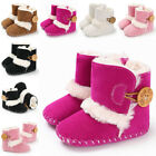 US Newborn Kids Baby Girls Boy Snow Shoes Winter Soft Sole Prewalker Crib Boots