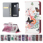 Beautiful Card Slot Patterned PU Leather Skin Kickstand Wallet Flip Case Cover