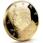 Donald Trump Gold 2017 Gold Plated Challenge Collectible Coin 45th President