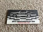 1977 Oldsmobile Indy 500 pace car original  telephone directory booklet