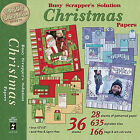 HOTP Christmas Papers Busy Scrappers Solution 36 Sheets Alphabet Tiles Tags etc