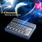 7 Channel Mic Line Audio Sound Mixer Mixing Console 3 Bands EQ Xmas Gift US K4Q4