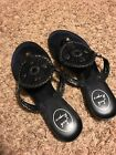 Womens Jack Rogers Georgia Jelly Sandals Size 7 Black VGUC