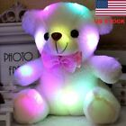 20cm LED Light Teddy Bear Kids Stuffed Plush Toys Lovely Baby Dolls Xmas Gift GW