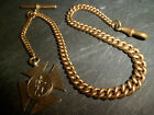 Antique Chunky Graduated 9ct Rolled Gold Albert Pocket Watch Chain