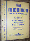 CLARK MICHIGAN MODEL 475 III A ARTICULATED TRACTOR SHOVEL  PARTS MANUAL 2800-R1