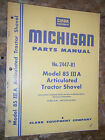 CLARK MICHIGAN MODEL 85 III A ARTICULATED TRACTOR SHOVEL  PARTS MANUAL 2447-RI