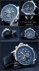 LUXURY CHRONOGRAPH Cavadini Watch Tachymeter Swivelling Ring NEW Dial Black